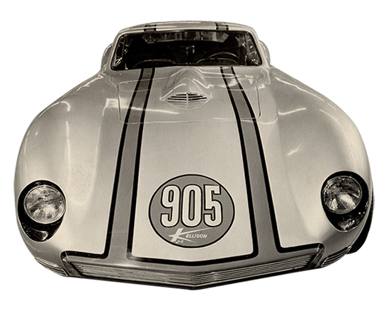 original photo of the J4 905 car designed and built by Jim Kellison