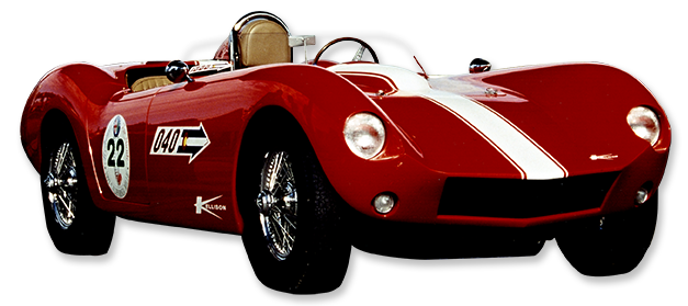 Red Kellison J car convertible