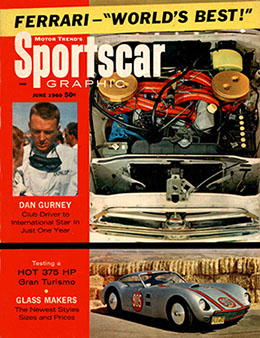 Cover of Sports Car Graphic June 1960 with the J4 905