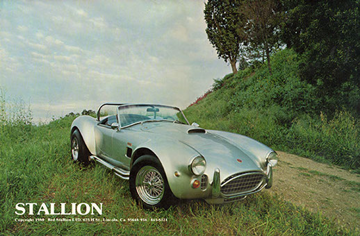 Jim Kellison's personal car, a silver Stallion in three quater profile